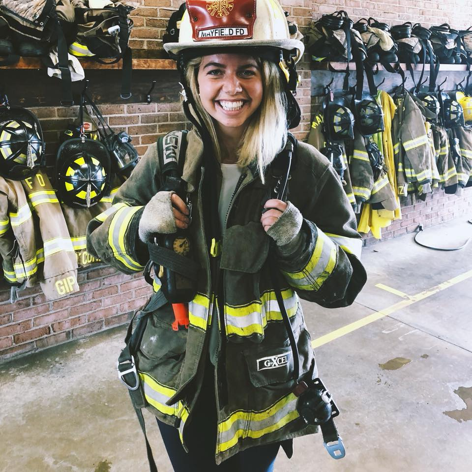 Pauline fire fighter